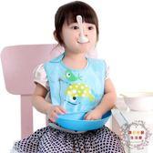 圍兜寶寶食飯兜防水兒童圍嘴嬰兒吃飯圍兜小孩口水幼兒喂飯兜兜矽膠仿