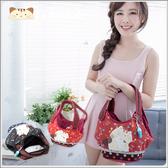 手提包~雅瑪小鋪日系貓咪包 啵啵貓日式古布手提包/側背包/拼布包包