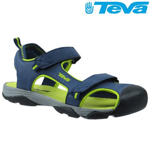 TEVA Kids兒童護趾水陸運動涼鞋Toachi 4 - 藍綠(中小童)