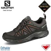【SALOMON 索羅門 男 TIBAI 2 GTX 低筒登山鞋《幻灰/黑/焦土棕》】412284/防水越野鞋/戶外健行鞋