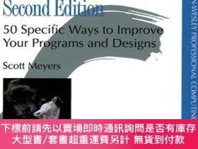 二手書博民逛書店Effective罕見C++: 50 Specific Ways to Improve Your Programs