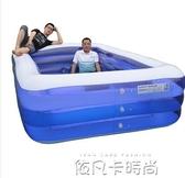 超大號兒童充氣游泳池加厚嬰兒寶寶家用游泳桶大型成人小孩戲水池QM 依凡卡時尚