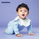 嬰兒口水巾360度旋轉圍嘴花瓣寶寶圍兜飯兜吸水新生兒童寶寶紗布 LR10383【Sweet家居】