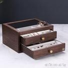 中式復古風首飾盒實木質抽屜式多層珠寶高檔...
