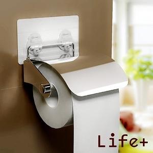 Life Plus 環保無痕魔力貼掛勾-捲筒紙巾架/衛生紙架