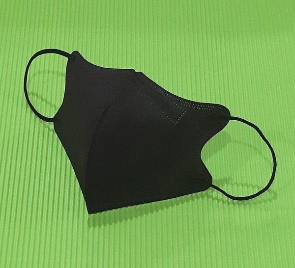 【雨晴牌-超立體3D口罩】】(A級高效能)(細耳帶) @兒幼童-黑色@SGS合格 防潑水佳 無異味一盒50片