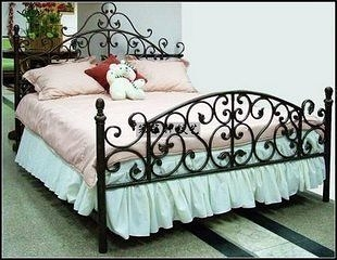 雙人床 鐵藝   歐式  家具 簡約 地中海