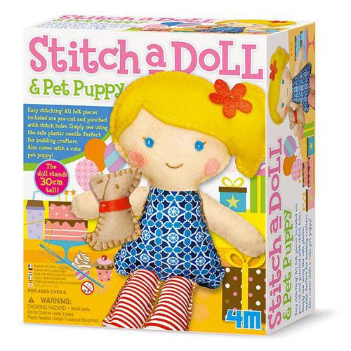 《4M美勞創作》派對女孩 Stitch a doll - in Party ╭★ JOYBUS玩具百貨