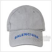 BALENCIAGA巴黎世家經典刺繡LOGO棉質老帽(灰)