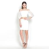 一字領五分袖上衣+短裙(兩件套)-時尚性感優雅蕾絲女裙裝73lk21【巴黎精品】