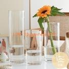 花瓶擺件客廳插花透明玻璃北歐富貴竹馬醉木水竹鮮花直筒【白嶼家居】