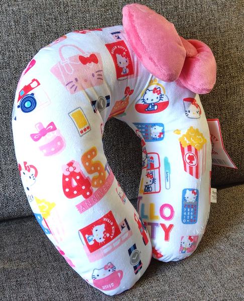 【卡漫城】 Hello Kitty 頸枕 45週年 ㊣版 U型枕 午休 凱蒂貓 午安枕 三麗鷗  玩偶 車用 造型 頭枕
