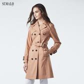 【ST.MALO】O.N.E.長經典款雙排機能風衣-1948WC-暖核桃色