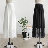 漢服內搭襯裙加長3米擺A字蕾絲花邊打底裙防透打底內搭半身裙定制 秋季新品