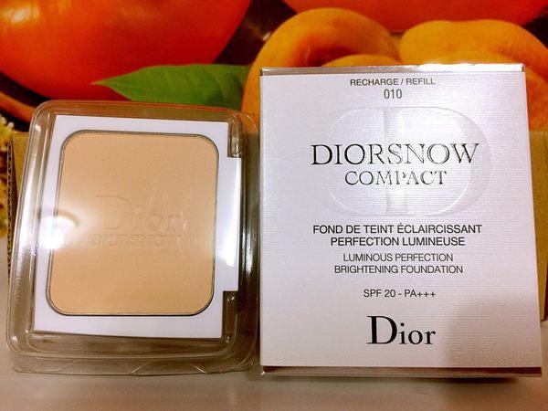 Dior 迪奧雪晶靈透亮UV粉餅蕊(只有蕊) 9g#020 SPF20 PA+++百貨公司專櫃正貨盒裝