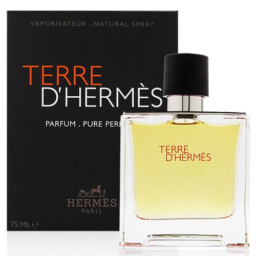 HERMES 愛馬仕 TERRRE D`HERMES PARFUM PURE PERFUME 大地男性香精 75ml [QEM-girl]