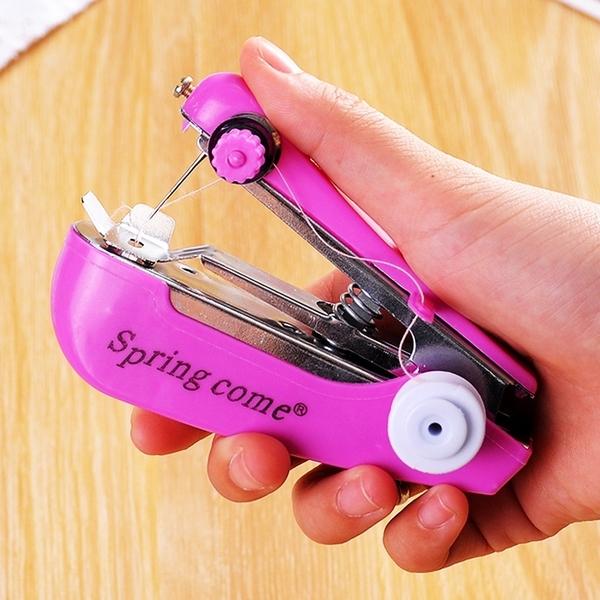 迷你縫紉機 台灣現貨 攜帶式迷你手持縫紉機 手動裁縫