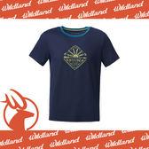 【Wildland 荒野 男 彈性棉感抗UV印花上衣《深藍》】0A61610-72/吸濕排汗/抗UV/短袖/休閒T★滿額送