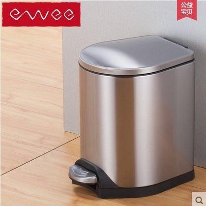 ewee/伊唯 垃圾桶 時尚腳踏時尚創意不鏽鋼靜音緩降防臭 蜂翼12L(12L)