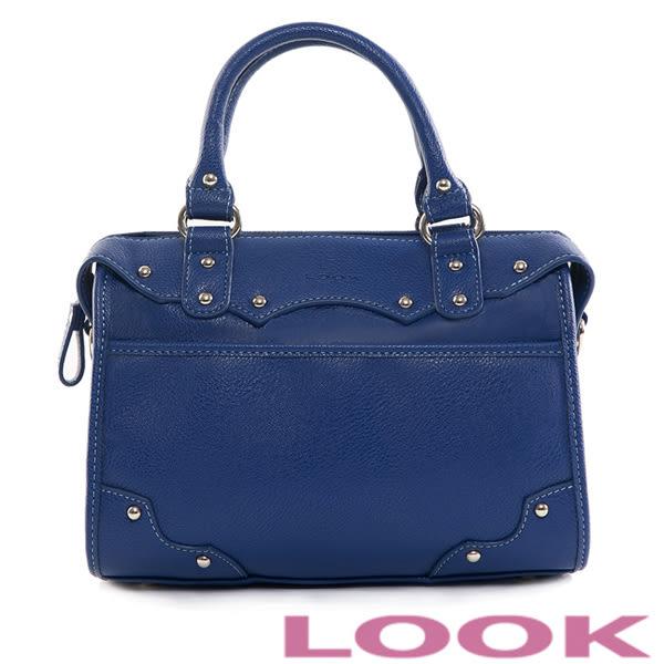 LOOK – 個性簡約斜背包-時尚藍