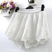 安全褲 白色寬鬆大碼蕾絲短褲女打底褲外穿安全褲防走光 傾城小鋪