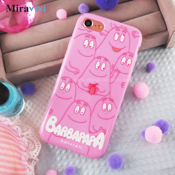 【DD現貨】Barbapapa泡泡先生iPhone 7粉色實色iPhone 6 6S手機殼 iPhone 6 plus 保護套