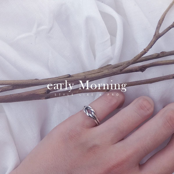 ✢韓版✢ early Morning - 雙結個性925純銀尾戒 腳戒指 關節戒 韓版 開口戒指【PLE005b】