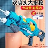 水槍兒童玩具噴水高壓玩具水槍大號抽拉式大容量打水仗神器【齊心88】
