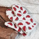 抗熱手套 家用廚房棉麻微波爐專用隔熱烤箱手套 防燙加厚烘焙耐高溫烹飪