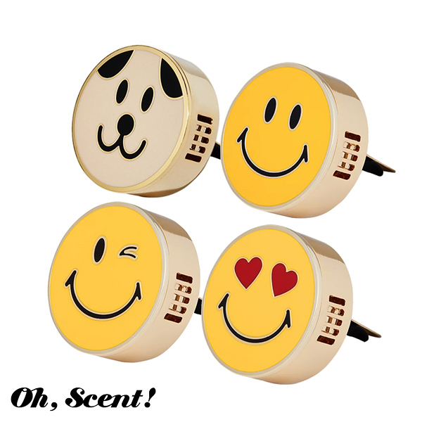 Oh, Scent! 精緻車上香氛表情款 多款可選 (含香氛補充包) - WBK SHOP