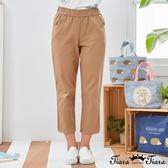 【Tiara Tiara】百貨同步新品aw  鬆緊腰素面口袋長褲(卡其/咖啡)