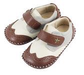 Swan天鵝童鞋-牛津雕花學步鞋1445-咖
