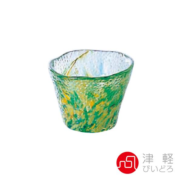 日本津輕 手作琉璃清酒杯50ml-綠 品酒必備 小酌 清酒杯 手作玻璃杯 好友聚會 好生活