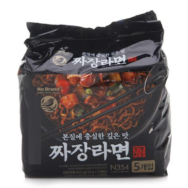 韓國 No Brand 炸醬麵 (五包入) 675g 炸醬拉麵 炸醬 泡麵 韓國泡麵【庫奇小舖】