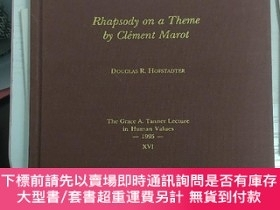 二手書博民逛書店Rhapsody罕見on a theme by Clement Marot: The Grace A. Tanne