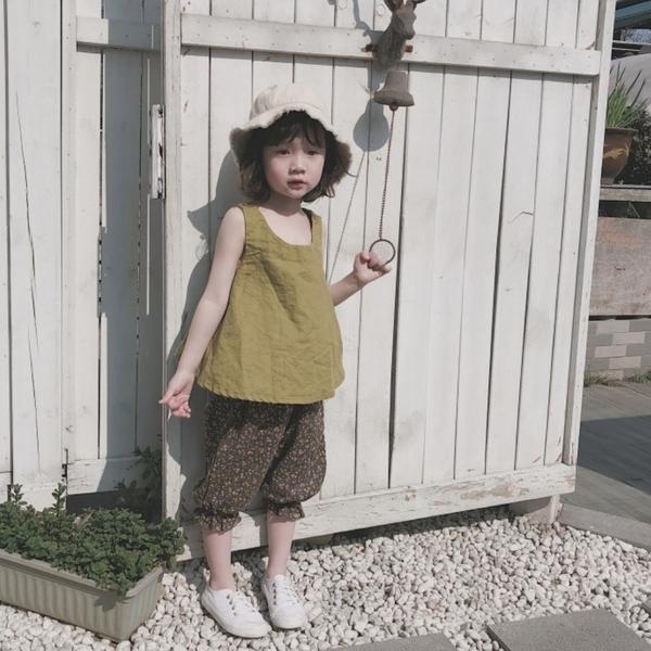 *╮小衣衫S13╭*女童夏季新品寬鬆背心印花燈籠褲套裝1080203