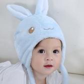 嬰兒帽子冬季毛絨帽0兒童6女12寶寶36個月加厚0護耳1夾棉2帽子3歲