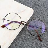 眼鏡框復古眼鏡女小圓框文藝超輕       瑪奇哈朵