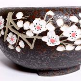 台灣手工製陶瓷黑晶面板遠紅外線電熱爐【梅之華 紅】電陶爐 手拉胚搭配鑄鐵壺茶壺