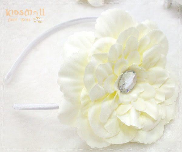 Cutie Bella牡丹花髮箍-Ivory