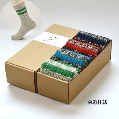 長襪禮盒(4雙裝)-時尚保暖加厚冬季純棉男士襪子套組4色72s2[時尚巴黎]