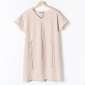 【MASTINA】縮腰綁帶洋裝-杏 網路獨家洋裝