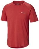 【Columbia】男UPF56快排短袖上衣-紅