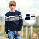 ‧【柒零年代】 ‧毛衣,針織衫,條紋,韓國製 ‧藍色、白色【共二色】