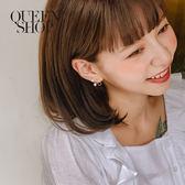 Queen Shop【07030543】珍珠蝴蝶結造型耳針式耳環*現+預*