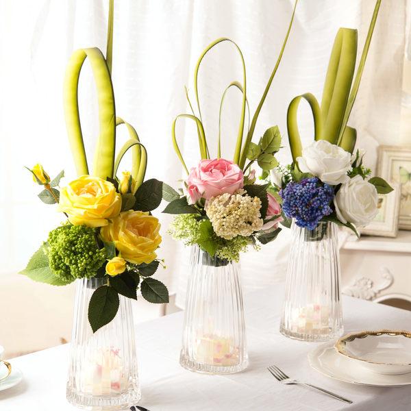 模擬花假花 套裝 花藝 客廳餐桌 裝飾花 花瓶花束 -bri02006