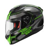 [安信騎士] ZEUS 瑞獅 1600 彩繪 AK3 黑綠 碳纖維 極輕量 Carbon 全罩 安全帽 雙鏡片
