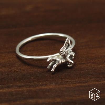 戒指 飛馬 Pegasus 925純銀戒指-64DESIGN銀飾