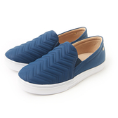 Petite Jolie V型紋厚底休閒鞋-蔚藍