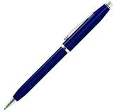 高仕CROSS-原子筆-經典世紀系列-AT0082WG-103-半透藍亮漆鍍銠筆夾
